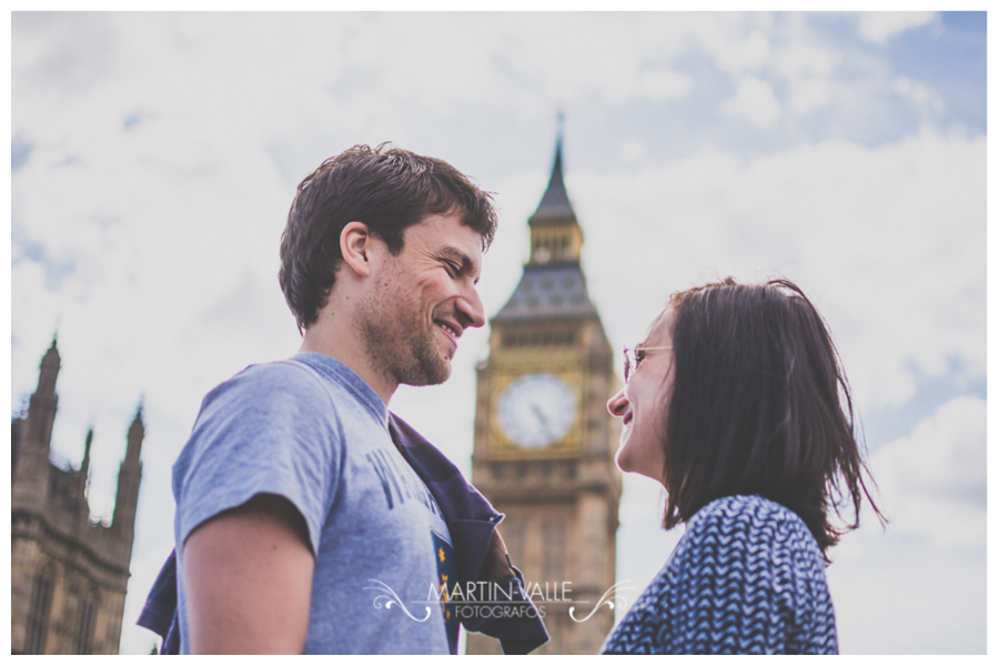 Love session en el Big Ben en Londres