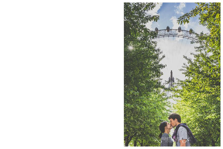 Love session en el London Eye en Londres