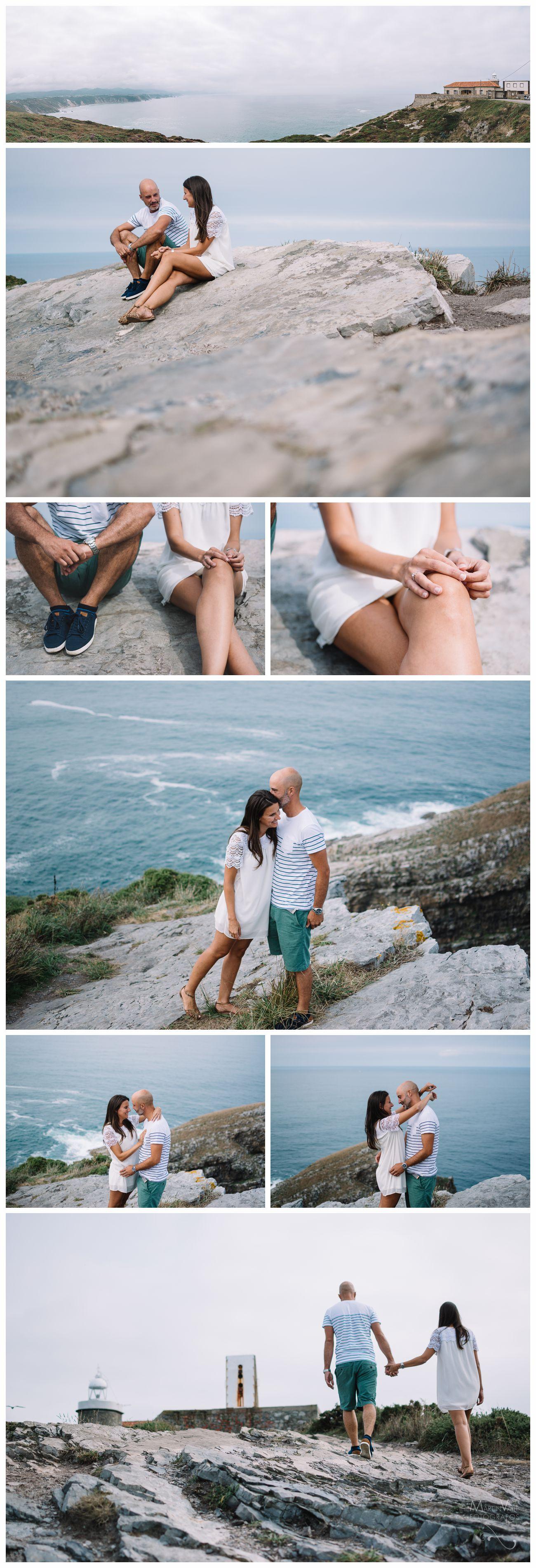 Preboda en el acantilado del Cabo Vidio, en Asturias