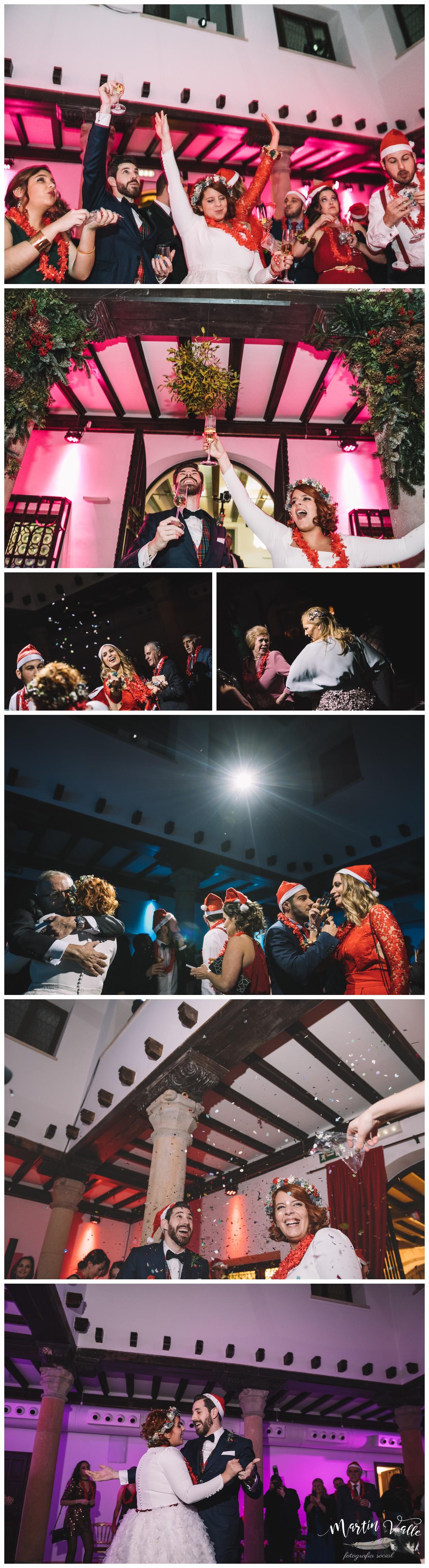 Reportaje de boda de estilo navideño celebrada en nochevieja