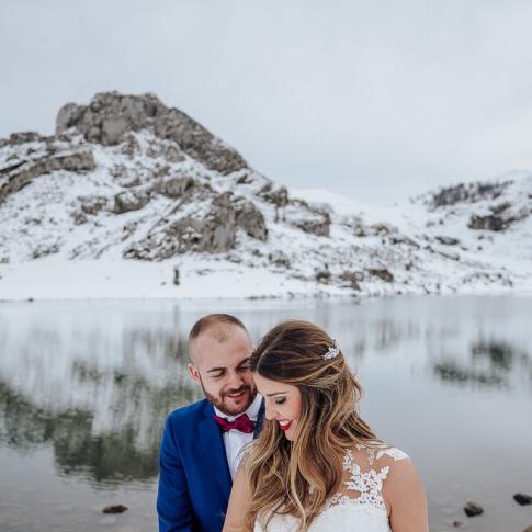 reportaje postboda en los lagos de covadonga