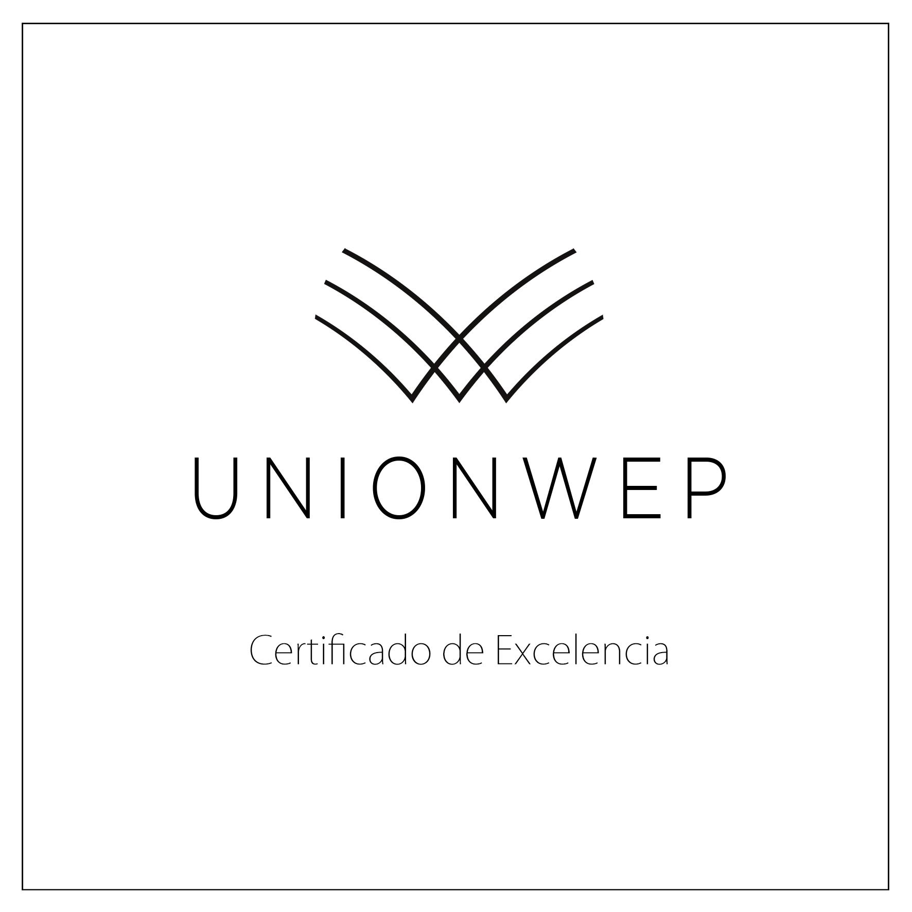 Certificado de excelencia Unionwep