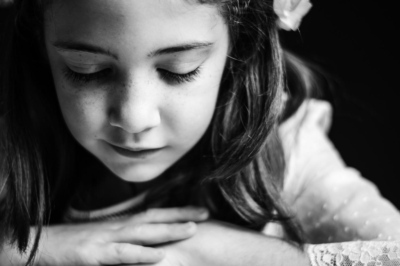 Retrato infantil de comunión en Asturias