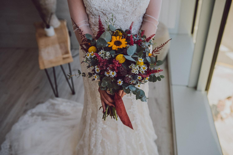 ramo de novia de flores pando