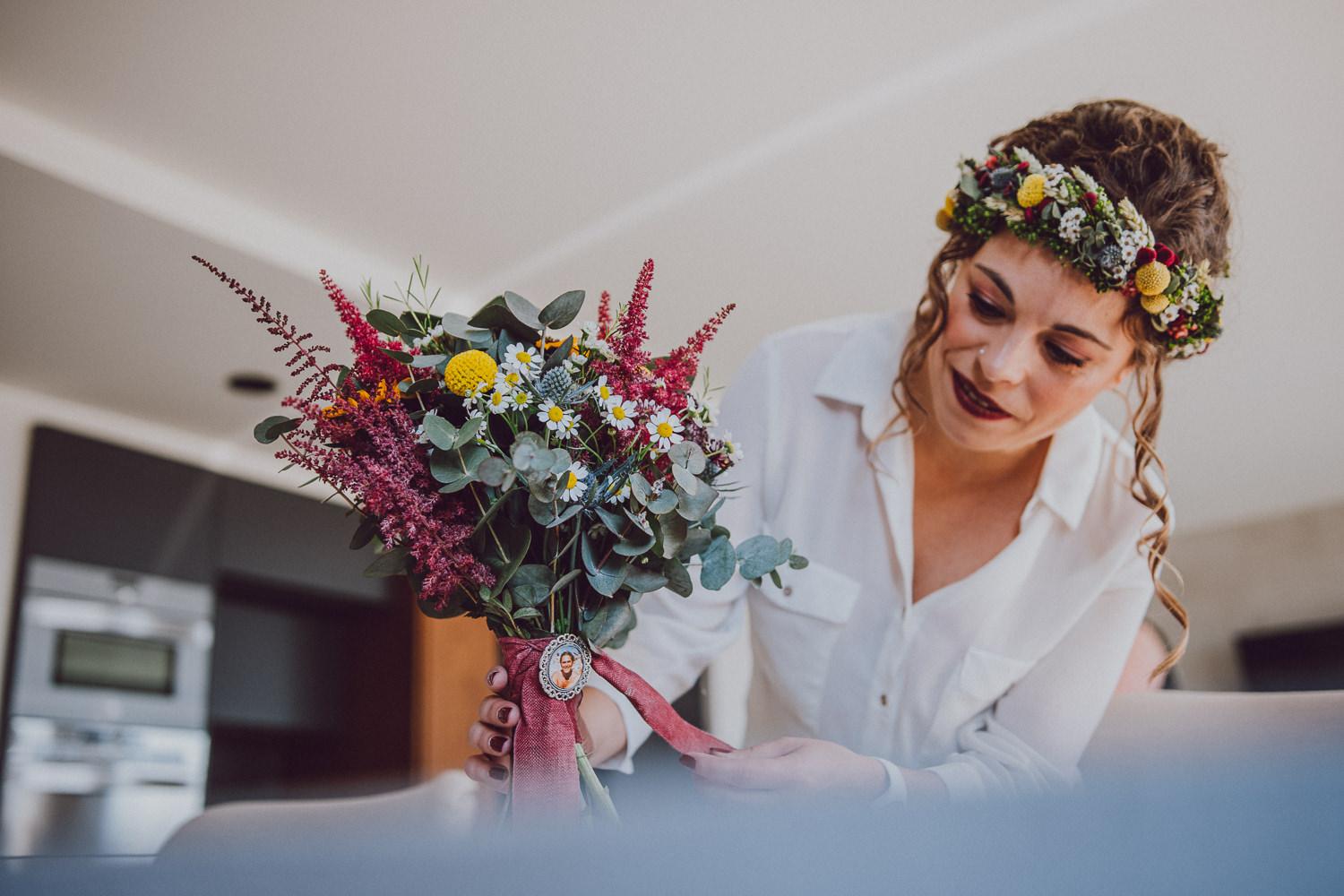 ramo de novia de materia botánica