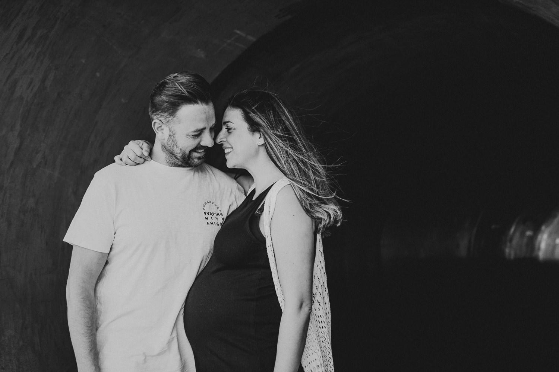 Sesión de embarazo en exterior