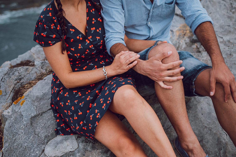 Sesión en pareja en el Cabo Vidio
